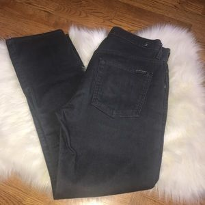 7 for all mankind the straight gray denim jeans